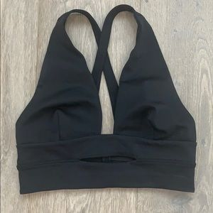 Free People Black Bra